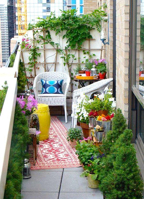 Come arredare un balcone piccolo - Giussani e\' casa